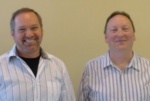 David Carnahan (left) with Bill Oeftering (right)