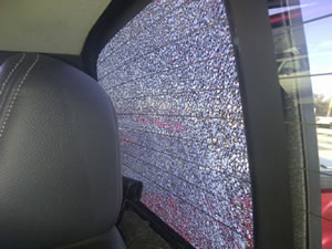 One 2010 Ford F-150 owner sent a photo of the damage to NHTSA caused to his or her backlite by an allegedly defautly rear defroster.