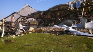 The Auto Glass Now shop in Jackson, Miss.,  was pretty much a total loss after being leveled by a tornado.