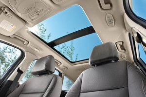 A 2014 model-year Escape with a panorama sunroof.