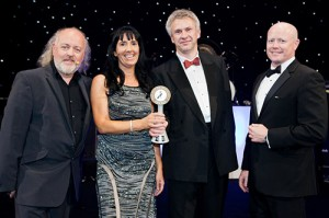 The Auto Windscreens' team accepting the Service Provider of the Year award.