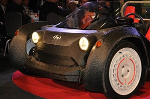 Local Motors' 3-D printed car on display in Washington, D.C.