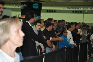 The crowd watching the AGTO finals at Auto Glass Week 2014.