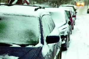 Cars with Frozen Windshields