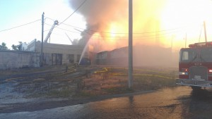 Bruce Gates spent several hours at the site on Saturday while the firefighters fought the flames.