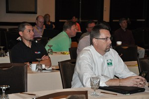 AGSC members listen in during the annual meeting.
