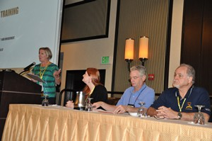 Jean Pero, Penny Ouellette, Dale Malcolm and Bob Beranek update AGSC members on the validation process.