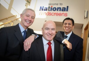 Pete Marsden, managing director (left, with Barry Donaldson and Kashmir Sanghera, finance director.