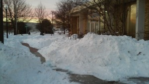 Silver Springs, Md.-based Banner Glass' location is surrounded by snow. Photo courtesy of Brian Novak.