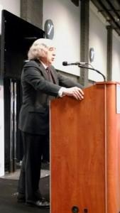Department of Energy Secretary Dr. Earnest Moniz speaks at the Washington Auto Show Thursday.