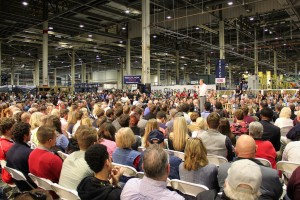 Ohio Gov. John Kasich spoke to a crowd of about 1,100 at Fuyao Glass America on Friday.