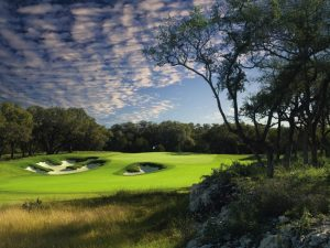 Hole No. 13 at TPC San Antonio's Oaks Course, where this year's annual Auto Glass Week golf tournament will be played.