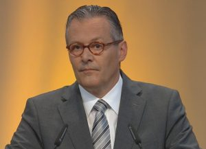 Paul Hälg, SIKA board chairperson, speaking during the 2016 annual general shareholders meeting this week.