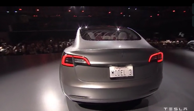 The New Model 3 Rear Roof Area Is One Continuous Pane Of Gl According To