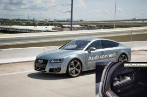 Audi's concept vehicle doing a traffic jam pilot. It is a current generation A7. Source: Audi