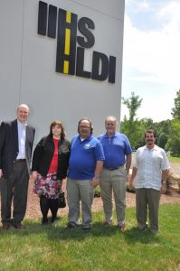 The AGSC board tours IIHS. From left to right: Keith Beveridge, Debra Levy, Peter Brown, Bob Beranek and Mike Schenian.