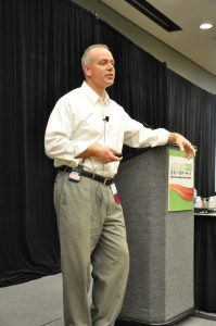 Bill George speaking during Auto Glass Week 2014.