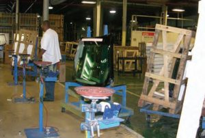 Inside the Enfield, N.C., plant in 2009.
