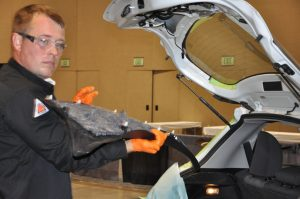 Haffo Stefansson of Car Tech Auto Glass in Edmonds, Wash., took home the gold for large-size companies in the AGTO.