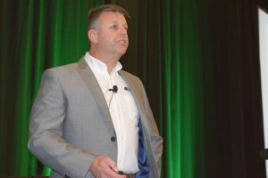 Tony Green, CEO of U.K.'s Auto Windscreens, discusses how to focus on strategy at Auto Glass Week in San Antonio, Texas, October 6.
