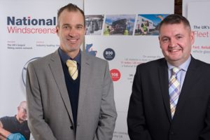 James Cook (left) and Nick Broughall, business development managers for National Windscreens. Photo: National Windscreens