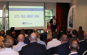 Rupert Armitage, Auto Windscreens' managing director, speaks at an ADAS conference last week.